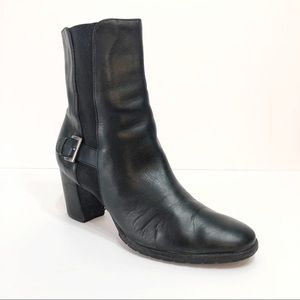 Women's Cole Haan Black Mid Calf Boot with Heel
